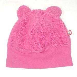 Zutano pink ears skullcap size 12M